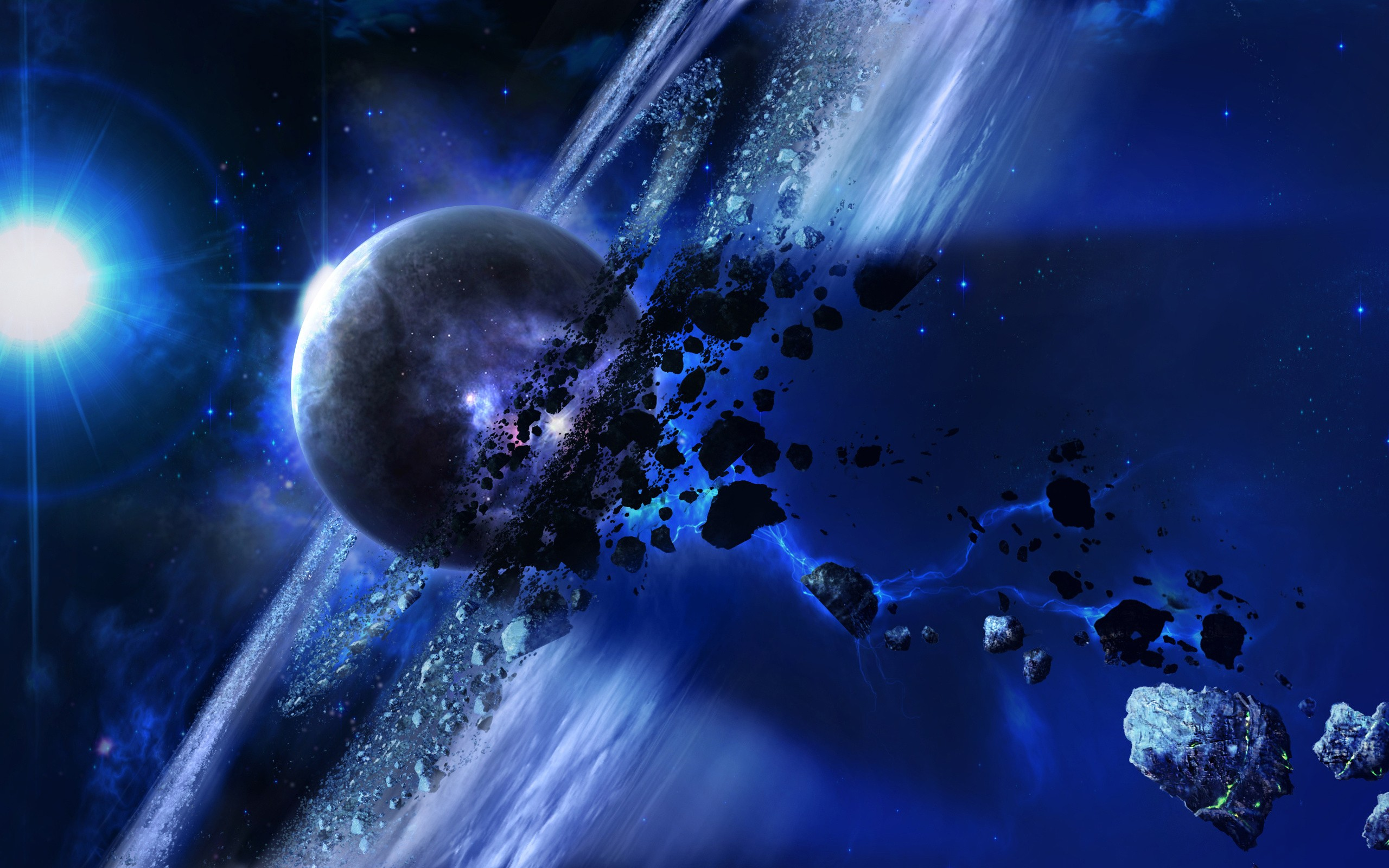 Outer Space Wallpaper 2560x1600 Outer Space Planets Artwork 2560x1600