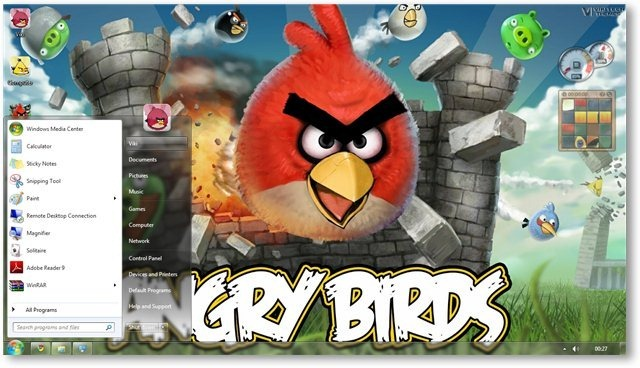Angry Birds Theme for Windows 7 and Windows 8 [Game Themes] 640x368