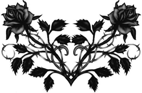 Gothic Black Rose Backgrounds   Twitter Myspace Backgrounds 600x392