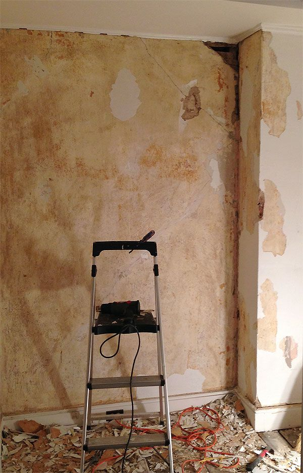 mn   study wall during old painted over wallpaper peeling away 600x936