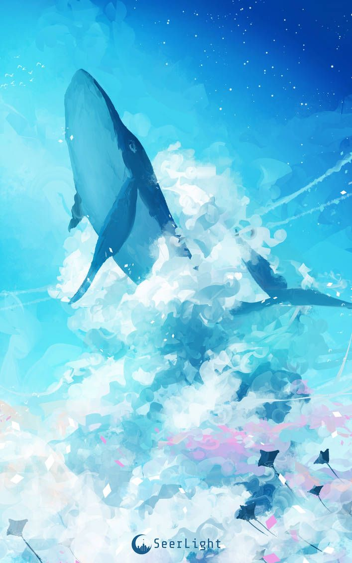 SeerLight Ronald Kuang Anime in 2019 Whale art 707x1131