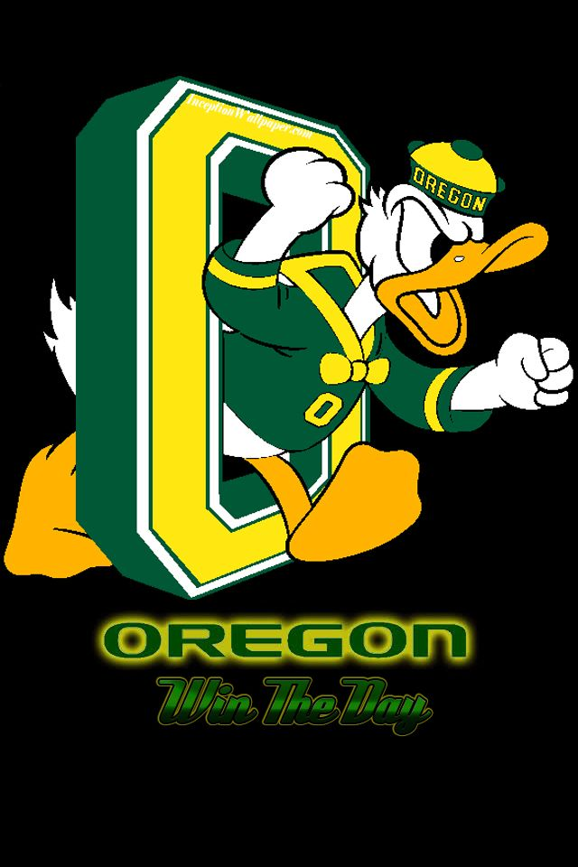 Oregon Ducks iPhone Wallpaper Love my Ducks Pinterest 640x960