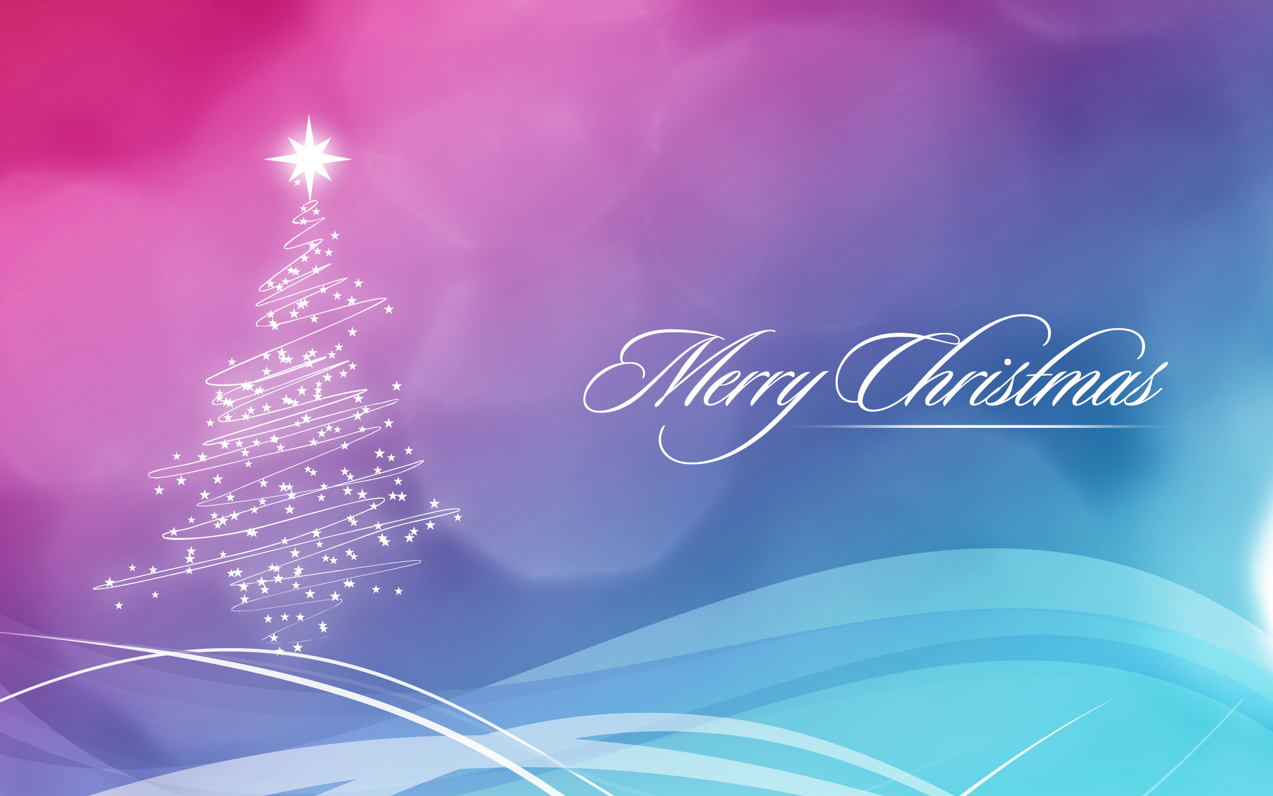 2560x1600 Blue and Pink Christmas Wallpaper desktop PC and Mac 2560x1600