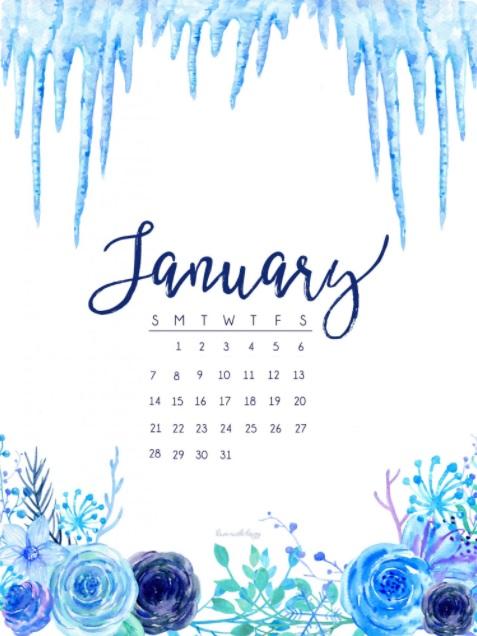 January 2018 HD Calendar Calendar 2018 477x636