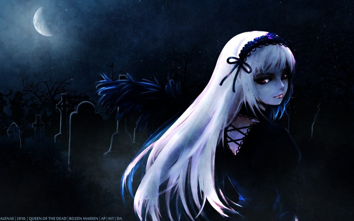Dark girl wallpapers for desktop wallpapersafari - Anime girl full hd ...