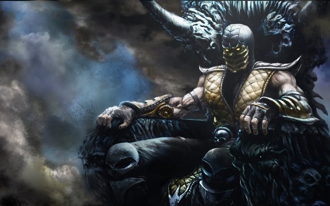 scorpion mortal kombat hd wallpaper color palette tags scorpion 1060x663