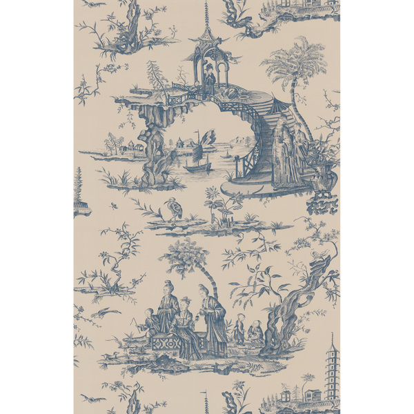 Brewster Blue Chinoiserie Toile Wallpaper   Overstock Shopping   Top 600x600