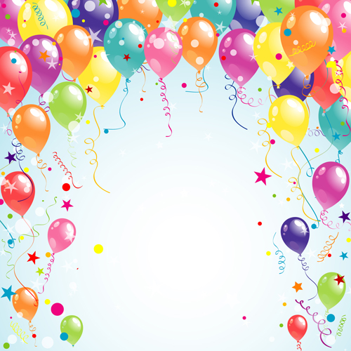 EPS file Balloon ribbon happy birthday background material 03 500x500