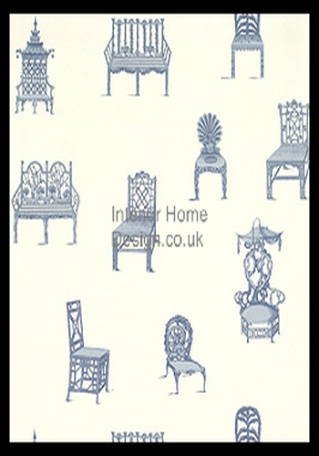 Thibaut Wallpapers   Barbados Wallpaper   Chairs T1613 Blue buy 350x500
