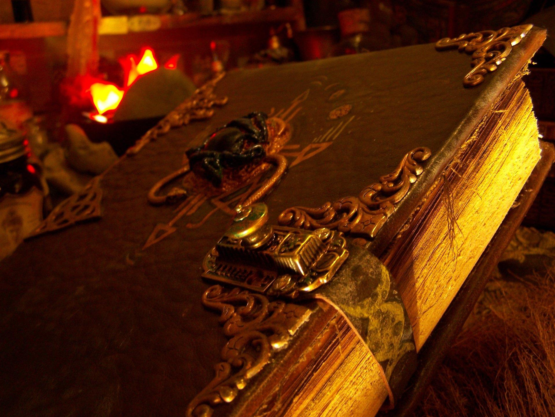 dark occult satanic bible fantasy book satan evil wallpaper background 1920x1442