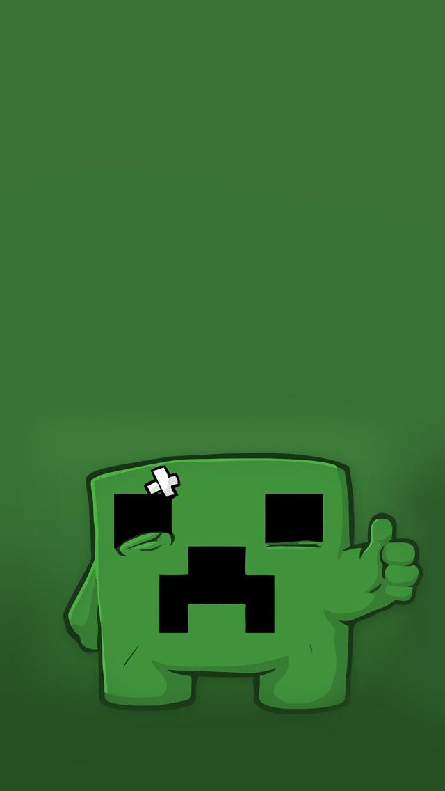 Minecraft Creeper IPhone Wallpaper 640x1136