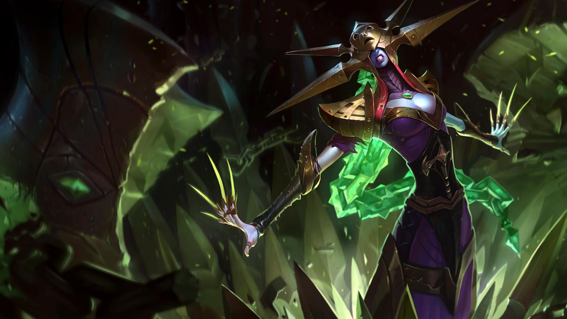 blade queen lissandra skin girl champion 1920x1080