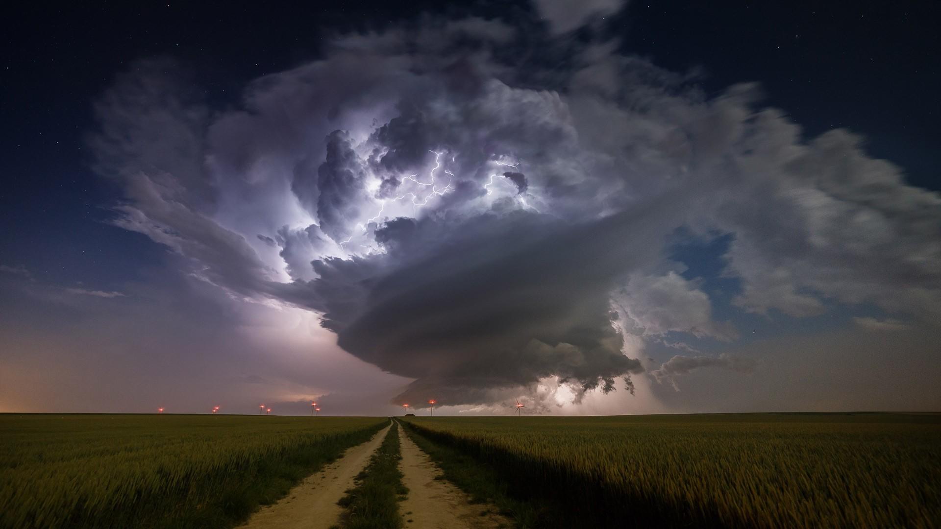 nature Landscape Clouds Supercell nature Storm 1920x1080