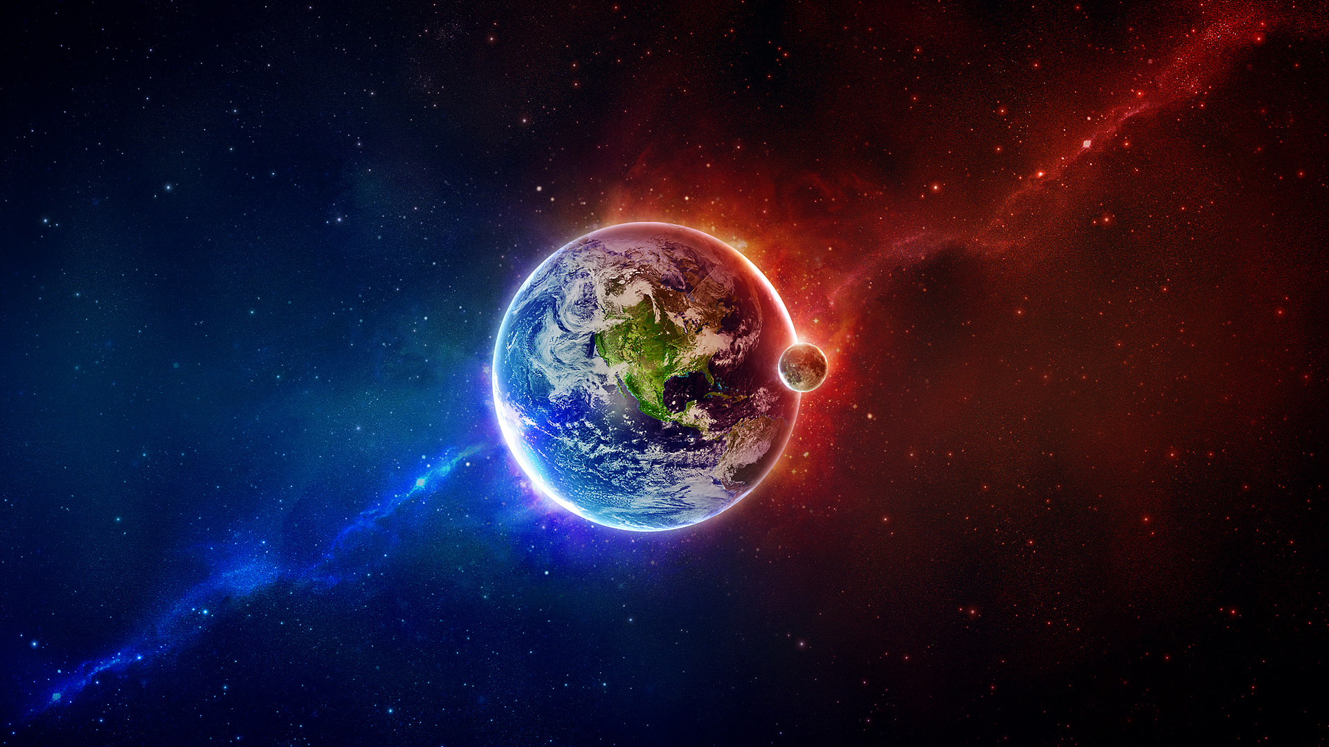 space scene eart blue red earth full hd  wallpapersblogorg 1920x1080