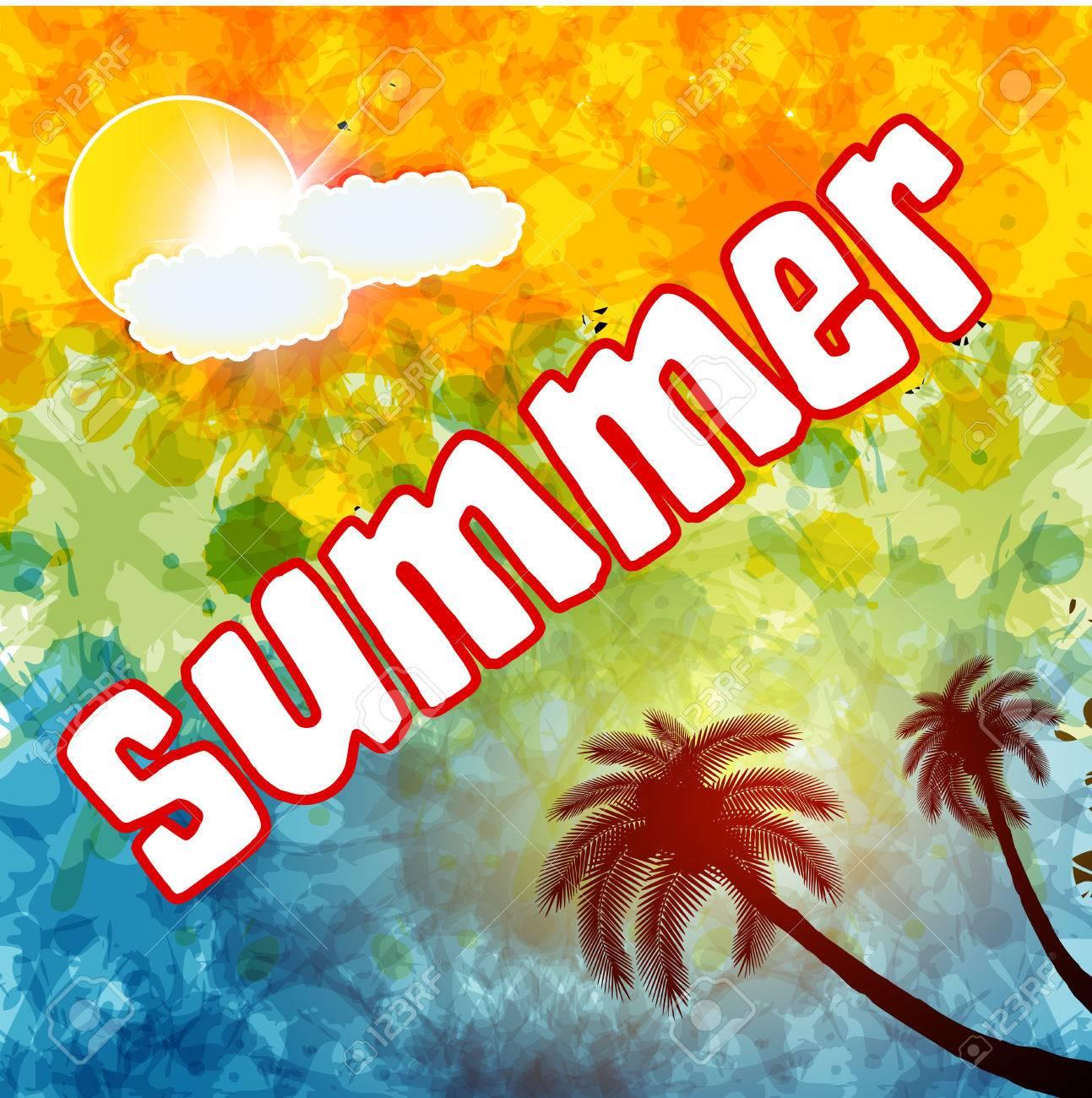 Summer Time Text Summer Daysummer Wallpapersummer Background 1293x1300