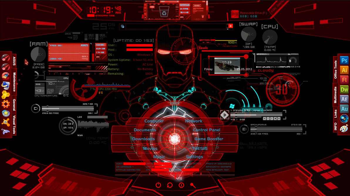 Jarvis Iron Man Wallpaper Hd Wallpapersafari