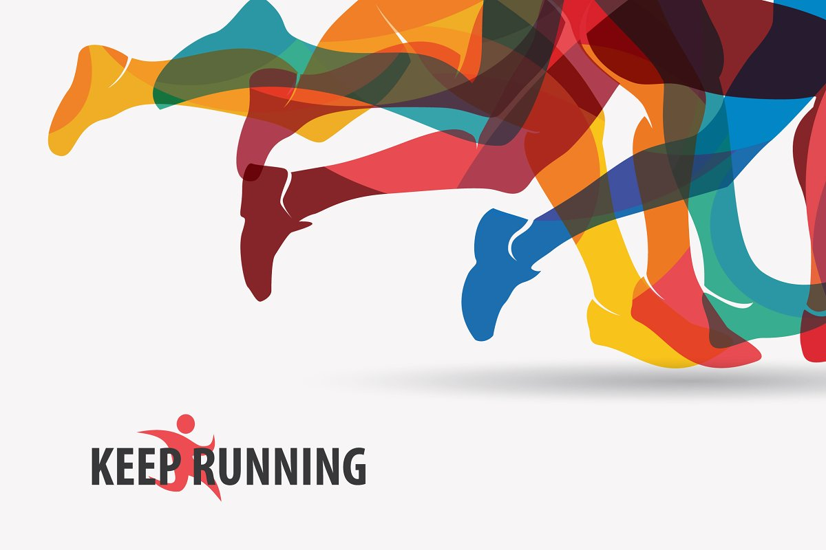 Set of Running and Sport Backgrounds Illustrations Creative Market 1200x800