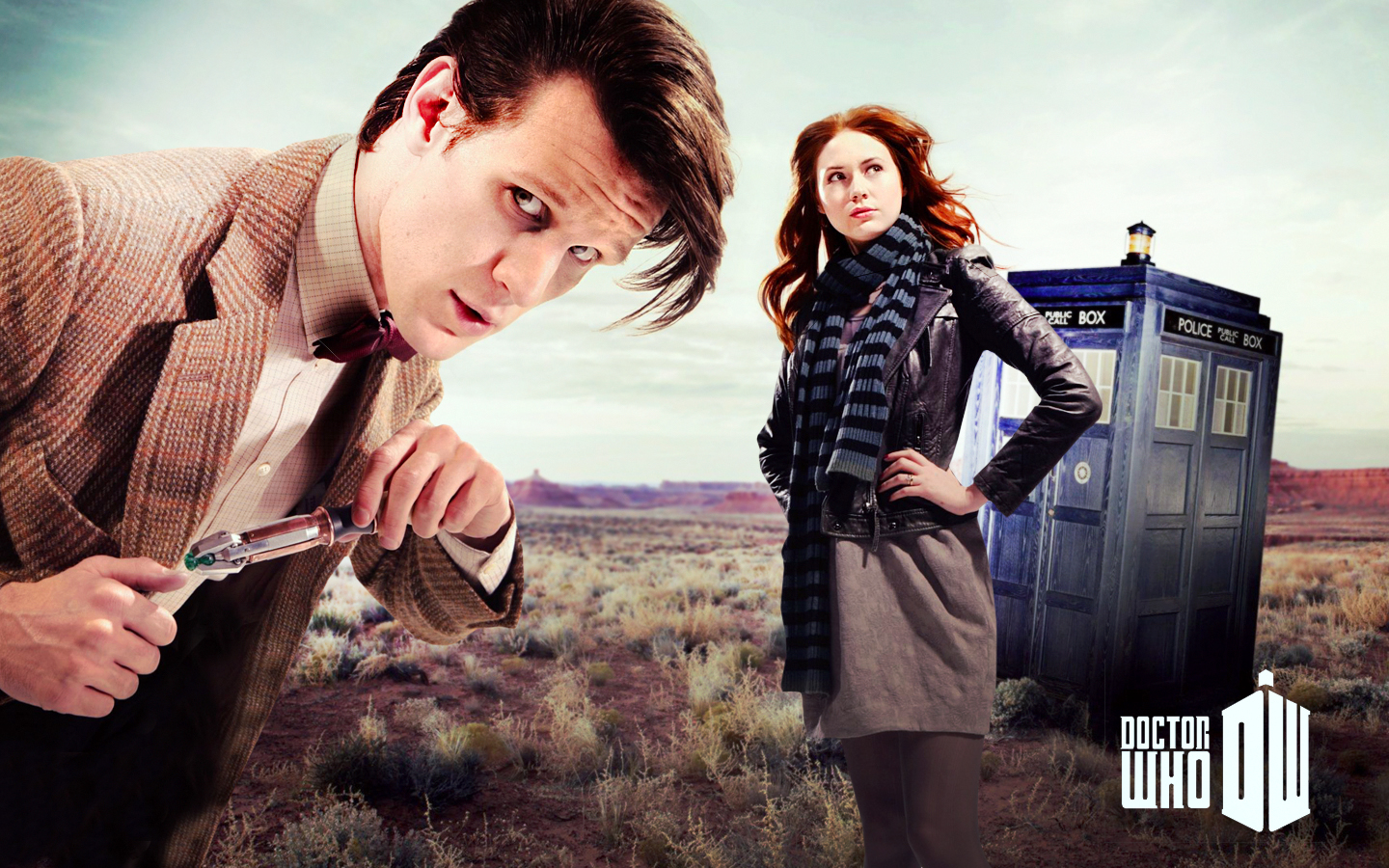 Matt Smith Karen Gillan Amy Pond Eleventh Doctor Doctor Who 1440x900