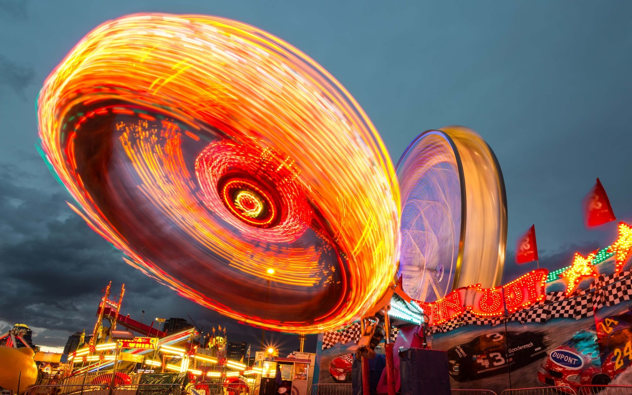 Download Calgary Stampede Lights HD wallpaper for 1280 x 800 1280x800
