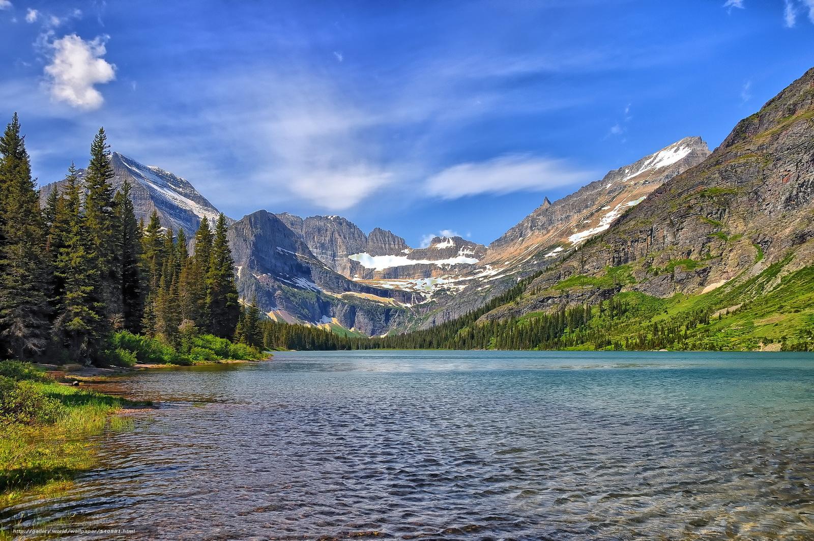 Download wallpaper Lake Josephine Glacier National Park Montana 1600x1063
