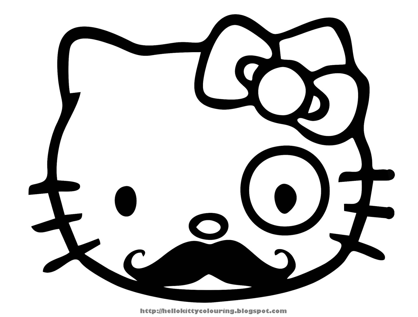 Hello kitty coloring pages wallpapers 1600x1215