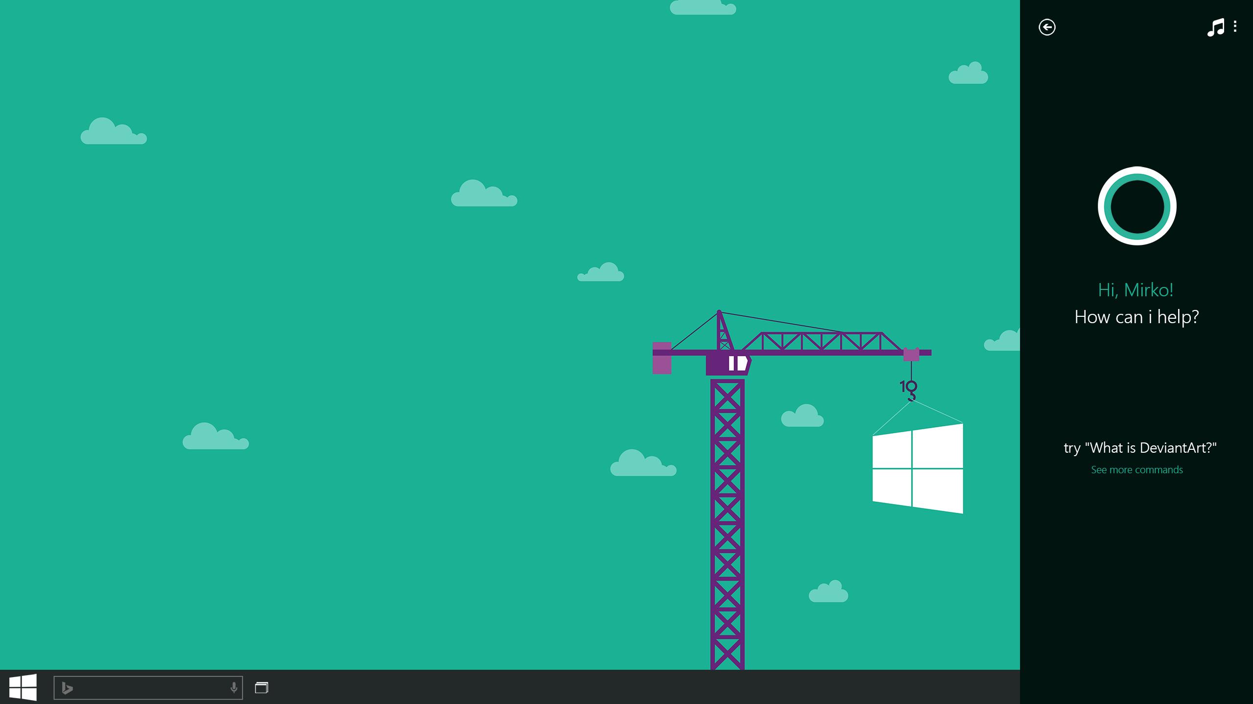Cortana Windows 10 Wallpaper Wallpapersafari