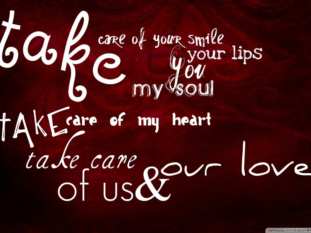 Love Quote in Reckground HD Wallpaper 1024x768