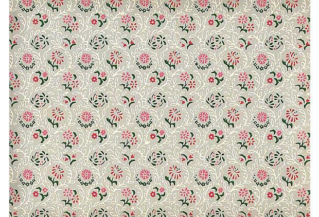 1940s Red Pink Wallpaper 60 Sq Ft One Kings Lane 620x422