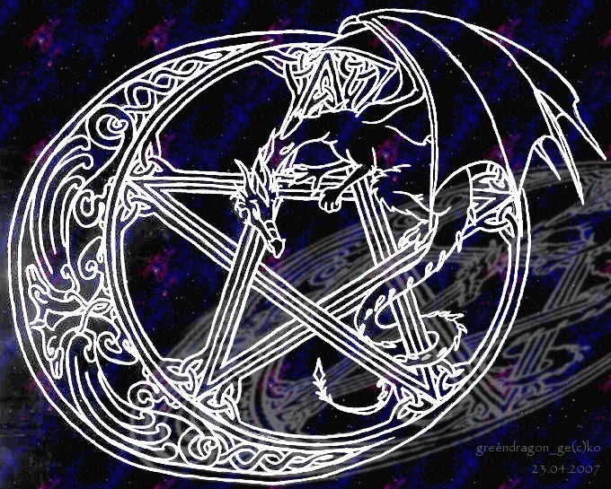 Dragon Pentacle Wallpaper 680x545