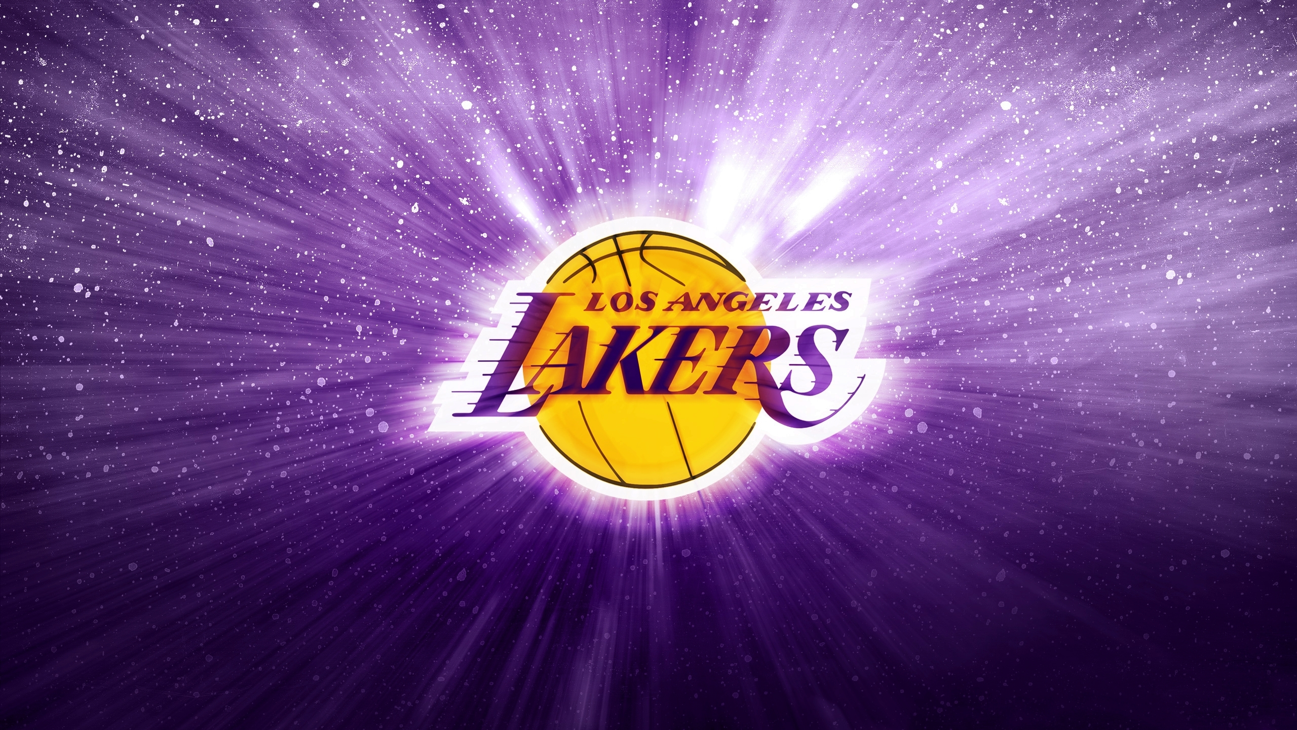 Los Angeles Lakers Wallpaper NBA Los Angeles Basketball Purple 2560x1440