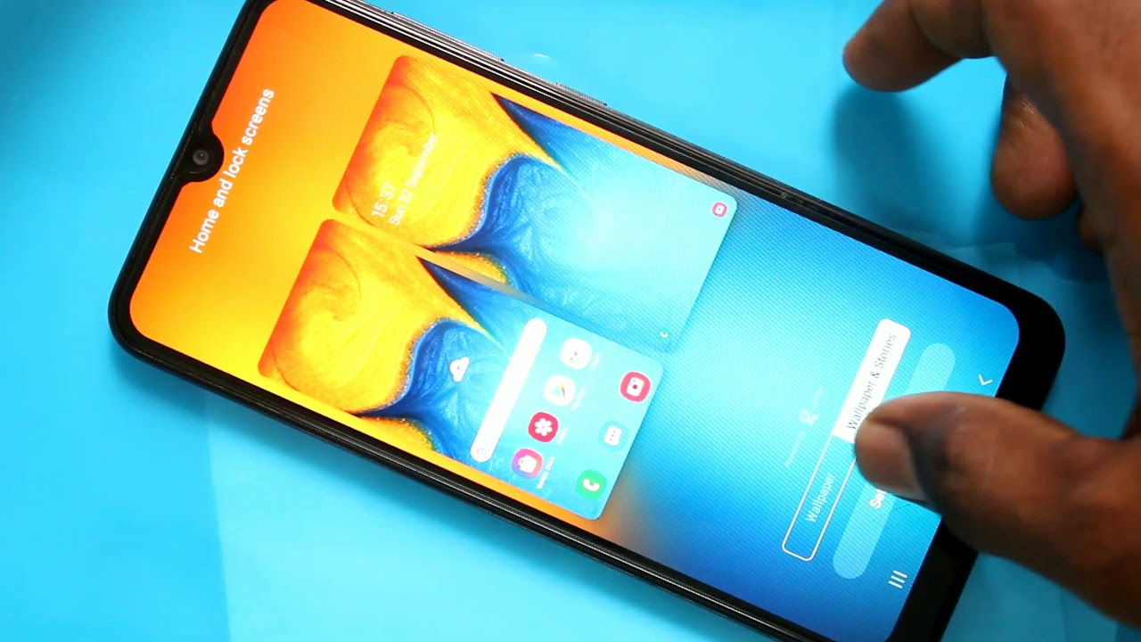How to change wallpaper in Samsung Galaxy A20 1280x720
