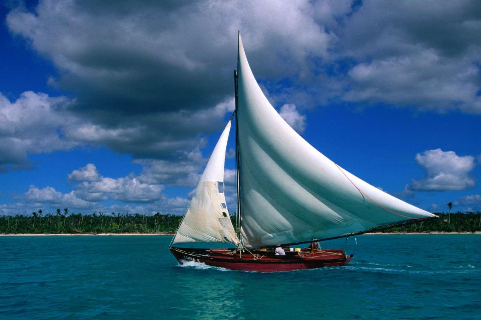 Caribbean Scenes Wallpapers   Download Fishing Sailboat Bayahibe 1600x1066