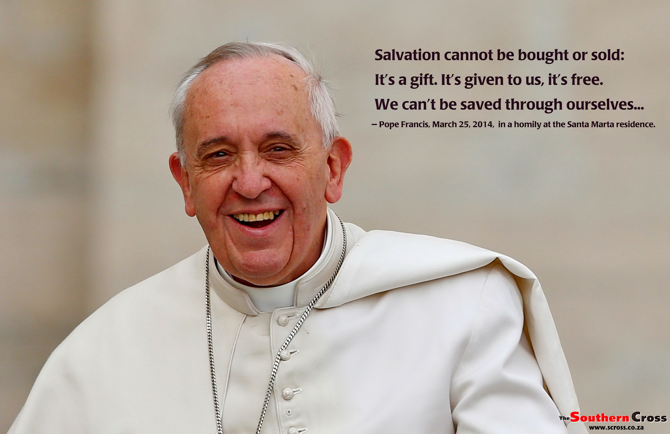 Pope Francis Wallpaper   Salvation   The Southern Cross 2300x1492