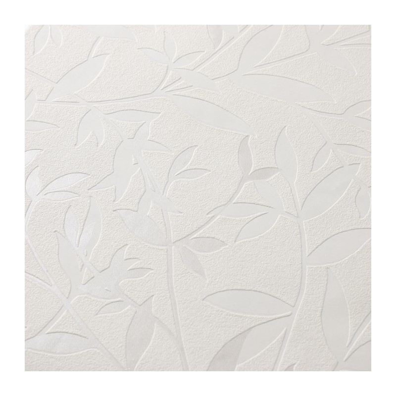 Bijou White 32 371 Wallpaper White Leave Wallpaper Superfresco 800x800
