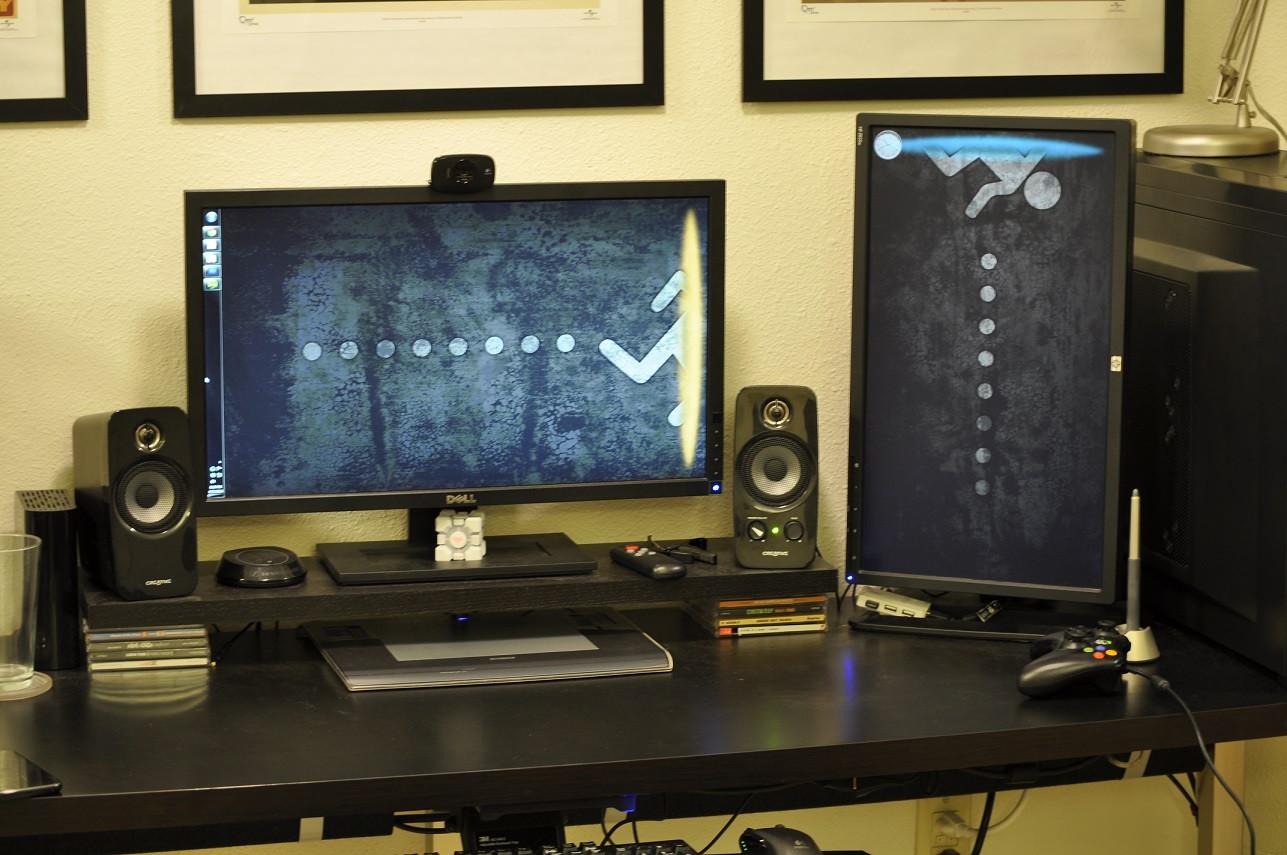 Portal 2 Dual Screen Wallpaper gaming 1287x855