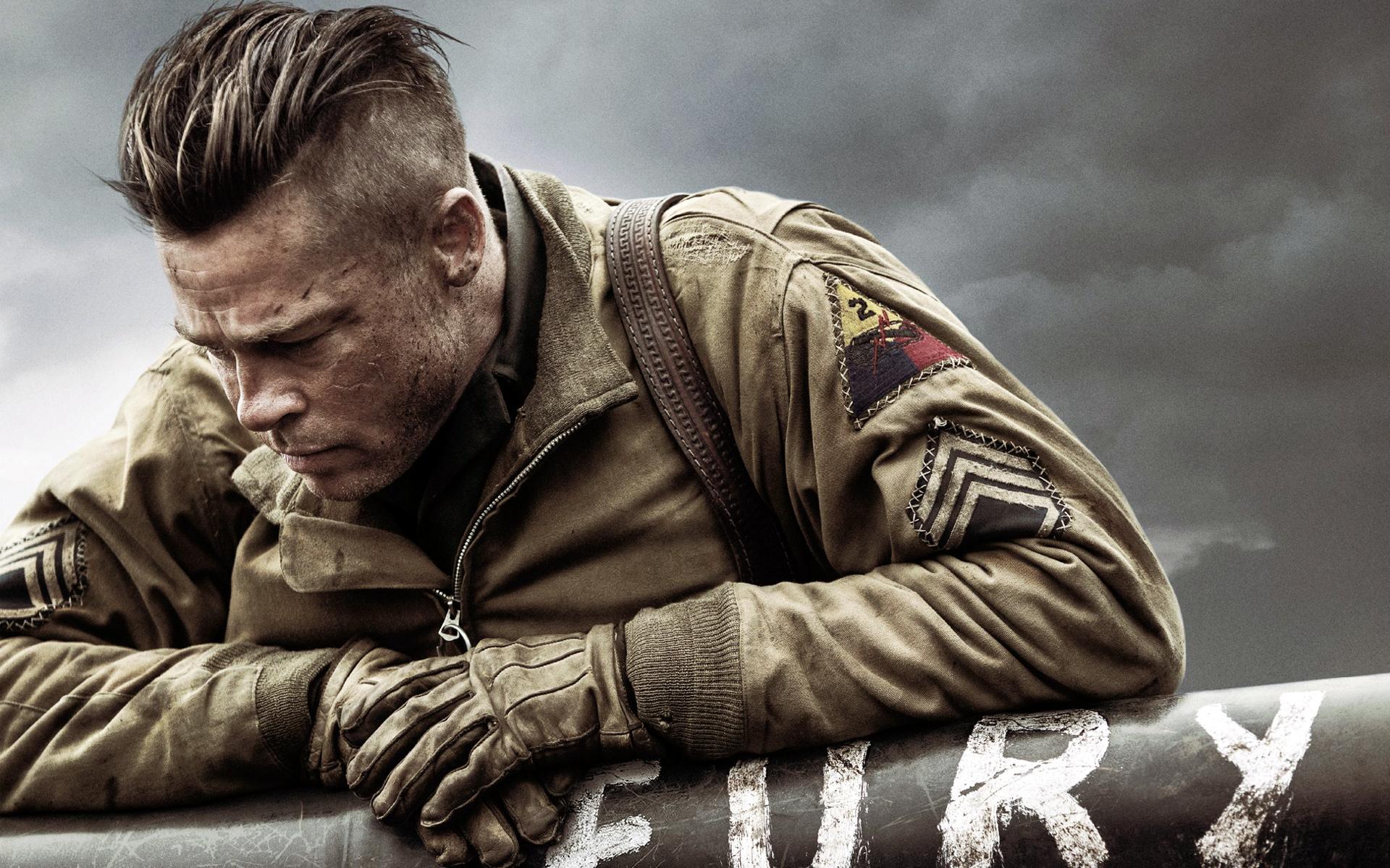 Brad Pitt in Fury Wallpapers HD Wallpapers 1920x1200