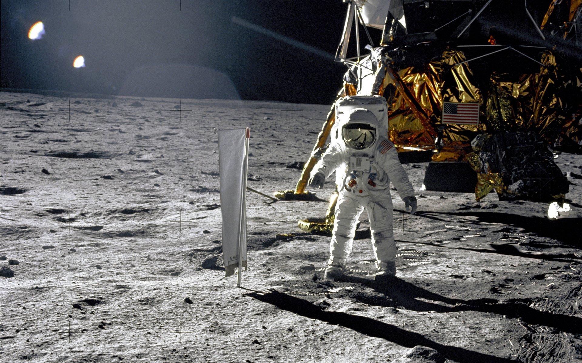 Free Download Man On The Moon Apollo Desktop Wallpaper 1920x1200