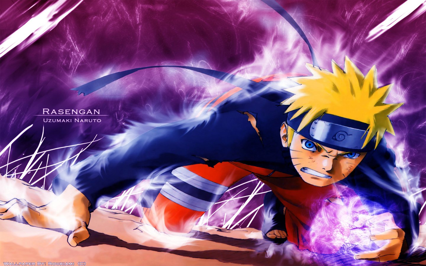 Download the Naruto anime wallpaper titled Naruto Rasengan 1440x900