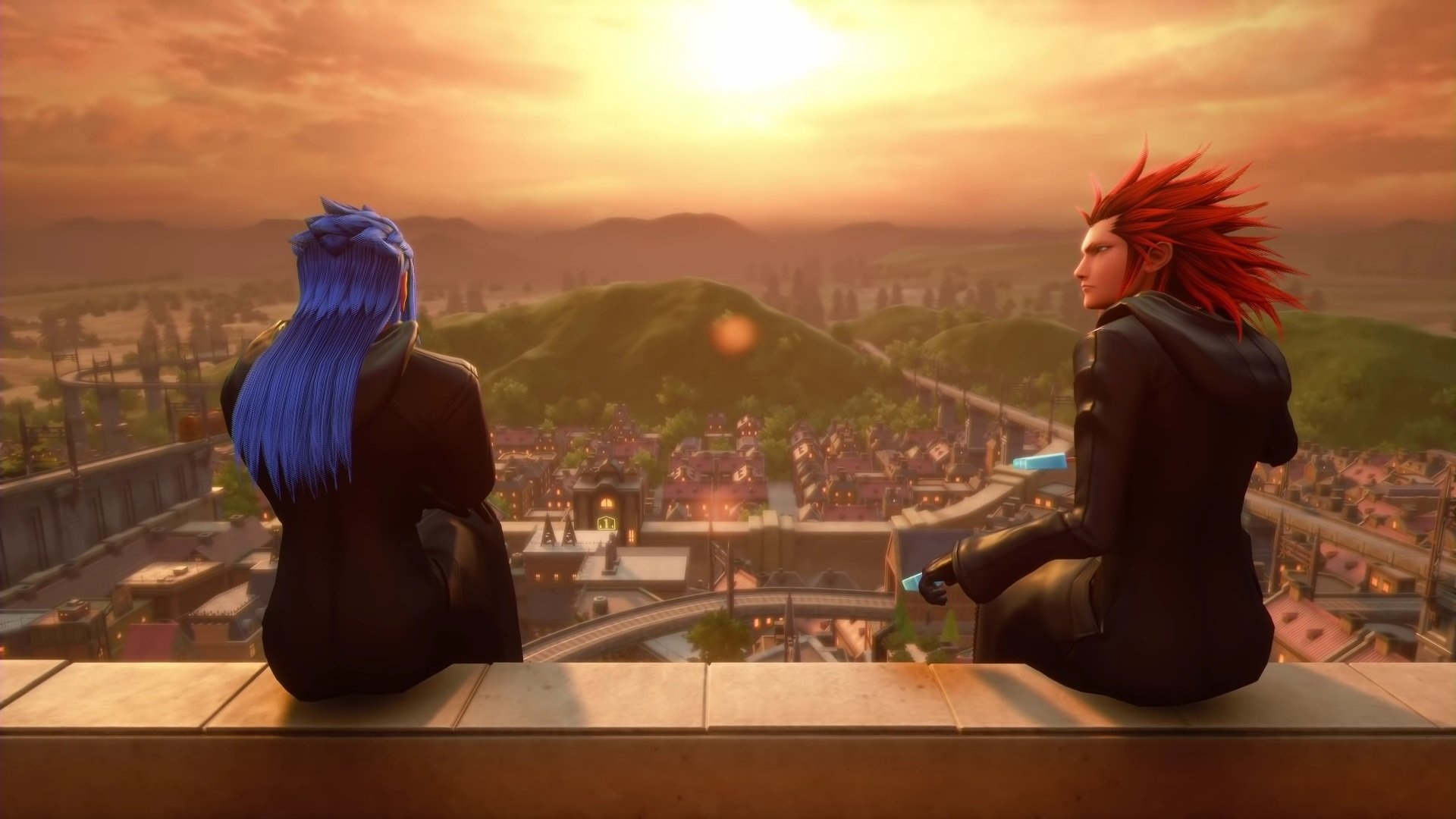 Saix and Lea in Twilight Town HD Wallpaper Background Image 1920x1080
