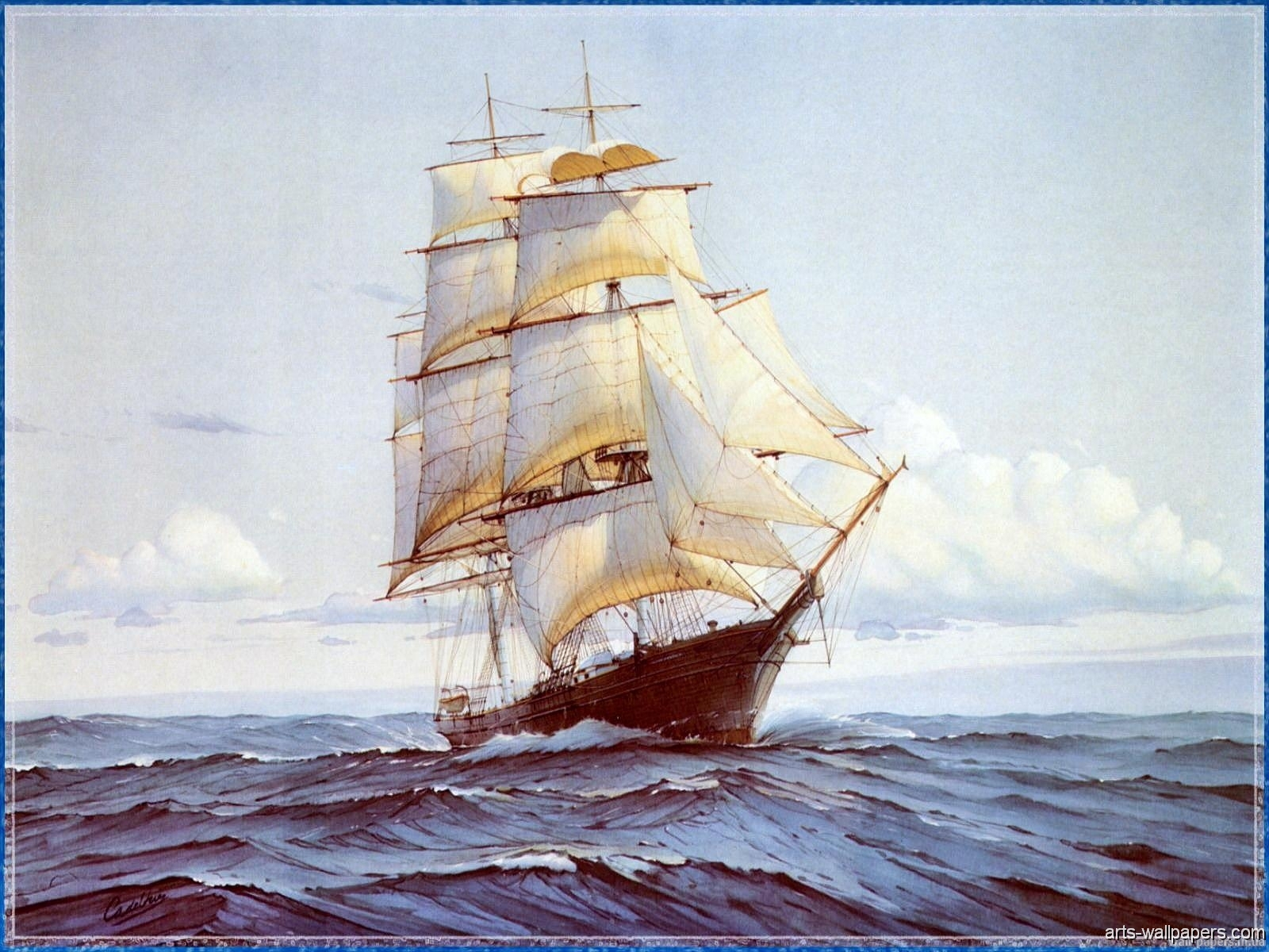 Famous Sail Boat Paintings