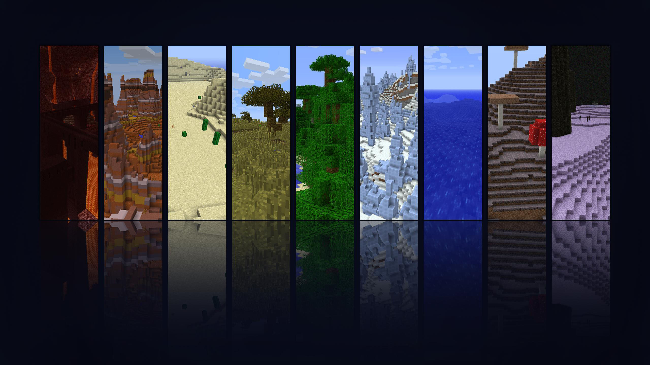 download Minecraft Biomes Wallpaper 3666 on WallpaperMade 2560x1440