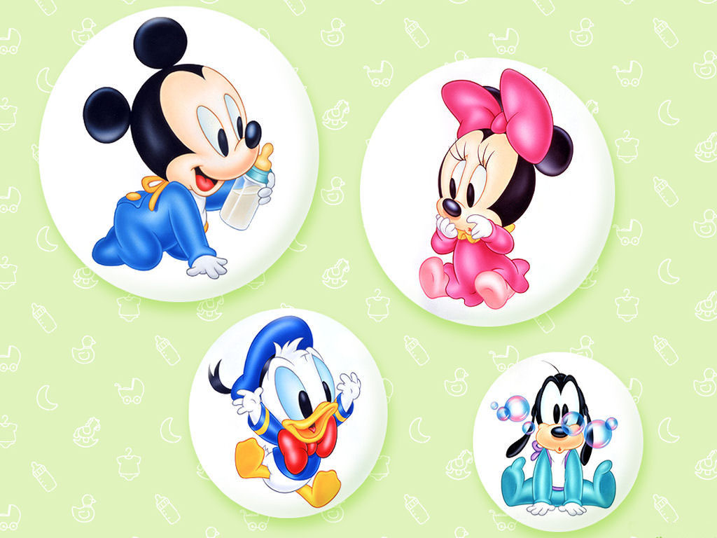Cute Cartoon Baby Disney Characters 1024x768