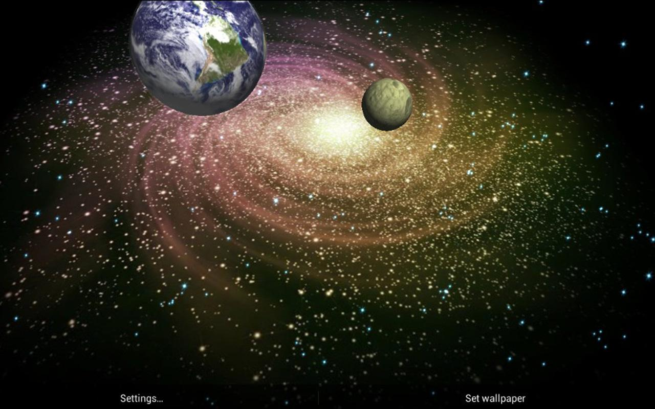 3d galaxy and create your own live universe 3d galaxy live wallpaper 1280x800