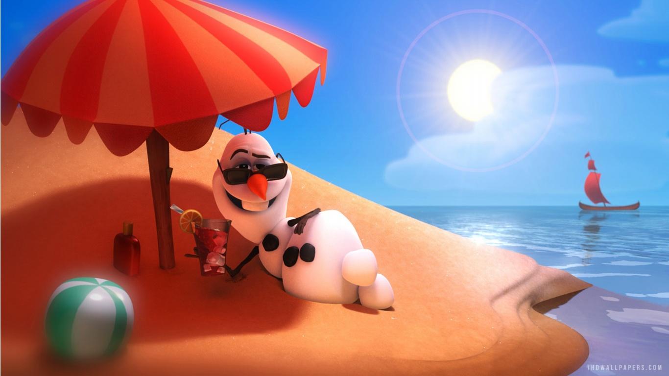 Disney Frozen Olaf HD Wallpaper   iHD Wallpapers 1366x768