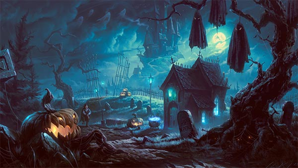 Scary Halloween Backgrounds Wallpaper Collection 2014 600x338