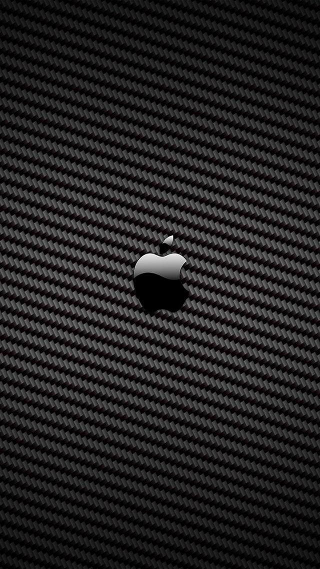 carbon fiber apple iPhone 5 Wallpaper Background 640x1136 Photo 640x1136