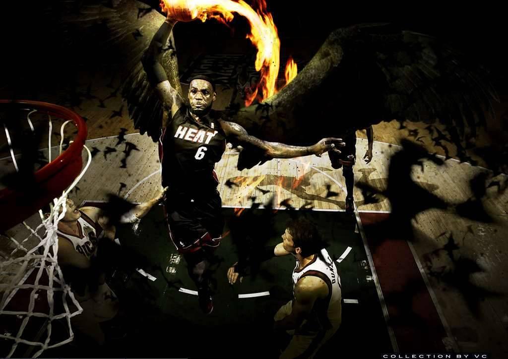 LeBron James Dark Matter Miami Heat Wallpaper   Miami Heat 1024x724