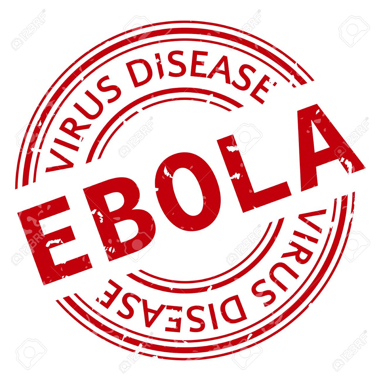 Red Stamp With Ebola Concept Text On White Background Vector 1300x1300