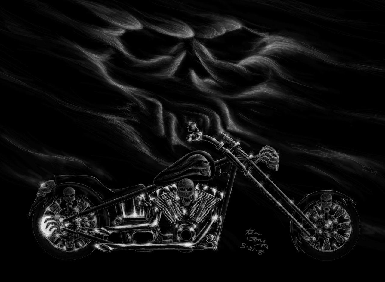 harley skull wallpaper - photo #8