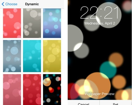 Dynamic IOS 8 Wallpapers